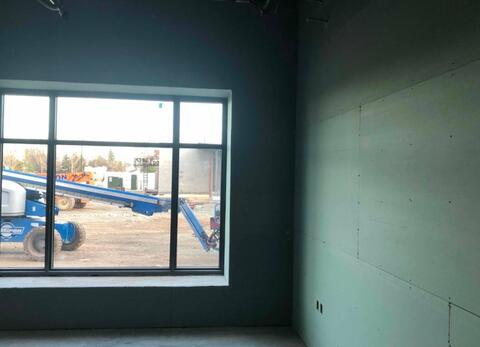 Drywall is progressing in the classrooms on the first floor.