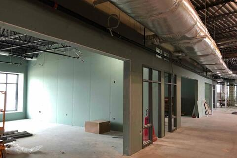 The drywall is progressing on the second floor in the classrooms and hallways.  These walls will start being taped and finished next week to get ready for paint.