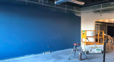 The 2nd floor classrooms are final painted.  Starting next week these rooms will start having ceiling grid installed.