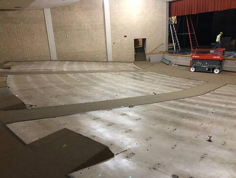 Auditorium seating removed.