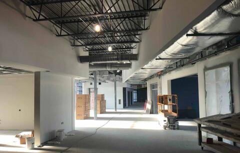 On the second floor, the hallways have started to be painted.  Next week, the painter will begin working on the exposed ceiling and duct work.