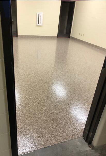 Unit A/L Epoxy Floor Installed.