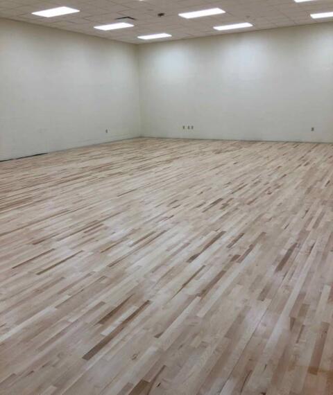 Wood Flooring installed in Multi-Purpose L115.