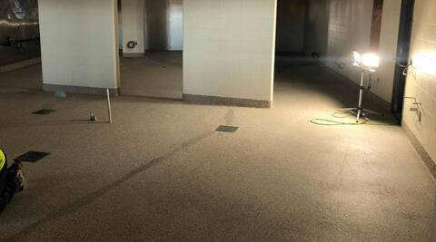 The epoxy floor in the kitchen area is nearly complete.  Starting next week the kitchen equipment will be delivered and installed.