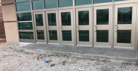 Area M – Site concrete installation.