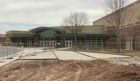 Unit M – Concrete forms for site concrete installation.