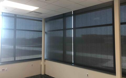 Window shades are complete in the second floor classrooms and are being installed in the offices.