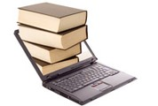 Laptop with books