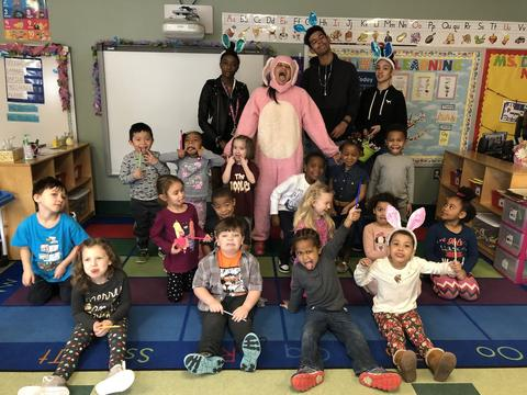 Easter Bunny Visits Elementary Schools-1