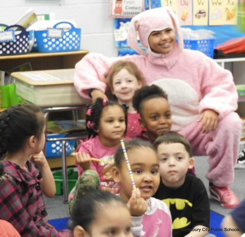 Easter Bunny Visits Elementary Schools-2