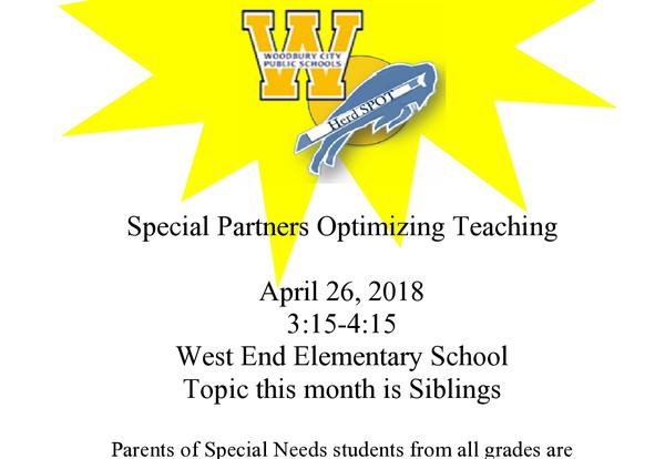 Special Education Parent Advisory Committee Meeting 4/26