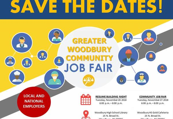 WOODBURY COMMUNITY JOB FAIR - November 27th @ 6:00 p.m. - 8:00 p.m.