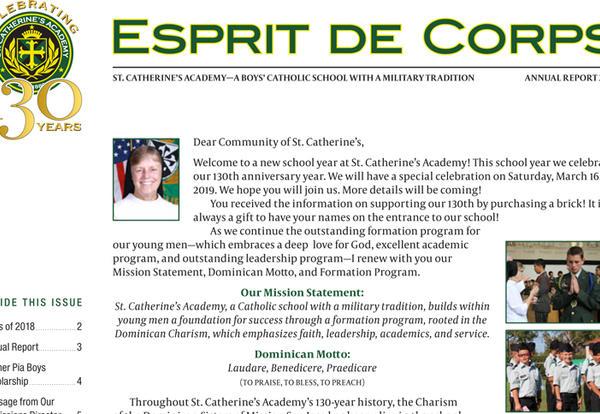 Read the Latest Esprit de Corps Newsletter Online!
