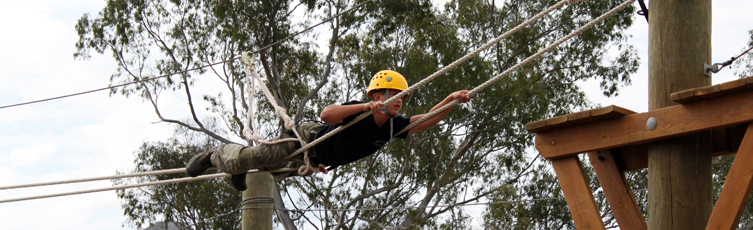 Cadet doing obstacle drill