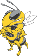 Ithaca Bee Mascot Looking Left