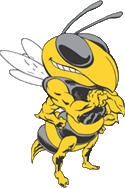 Ithaca Bee Mascot Looking Right