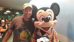 John Bailey with Mickey mouse