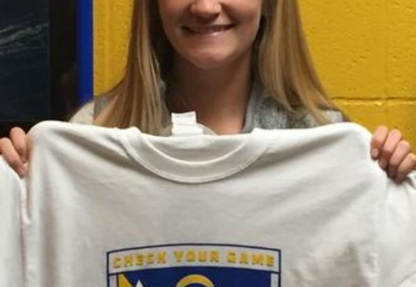 Stephanie Frey, This Week's Check Your Game Athlete of the Week