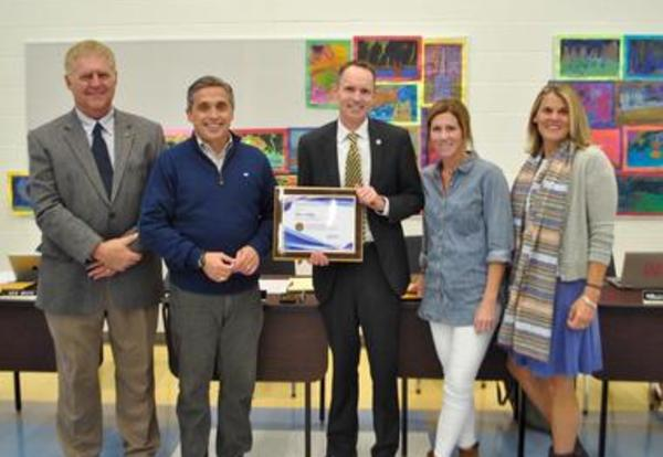 "District Superintendent Receives ""Superintendent to Watch"" Award"