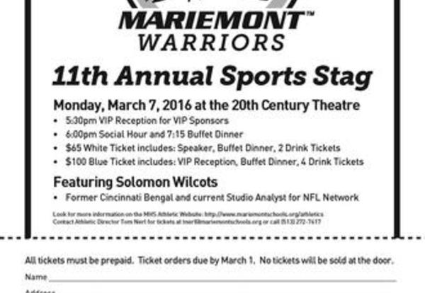 11th Annual Sports Stag Features Solomon Wilcots