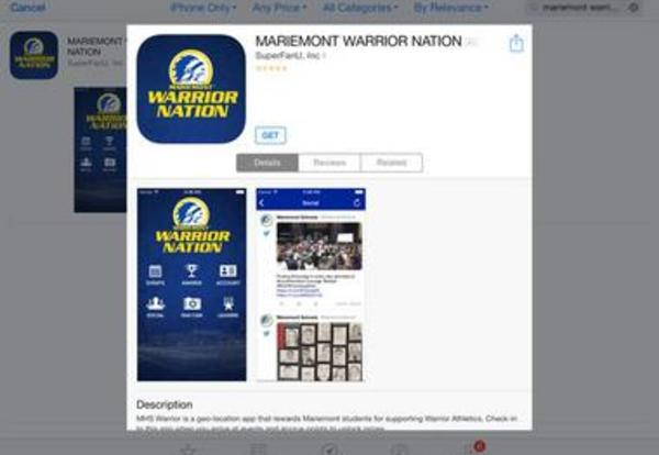 New MARIEMONT WARRIOR NATION App Now Available
