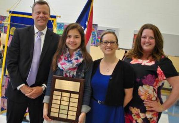 MJHS Student Recognized for Outstanding Community Service