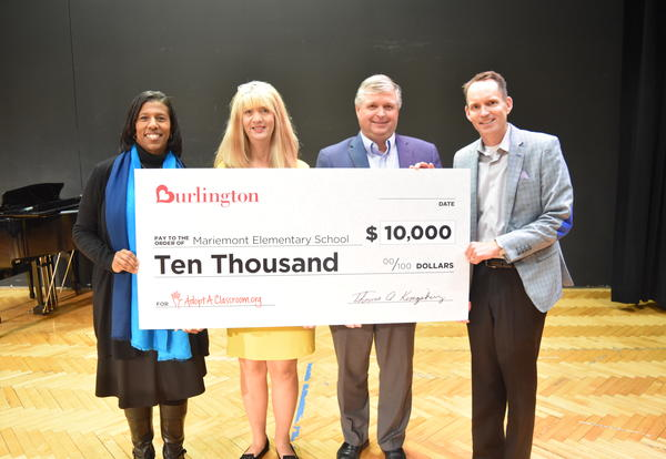 Mariemont Elementary Receives $10,000 Donation from Burlington Stores