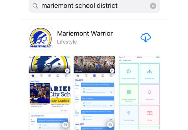 Mariemont Warrior App Now Available for Download