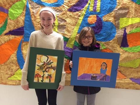 Elementary Art Winners - Kulesza and McCarthy