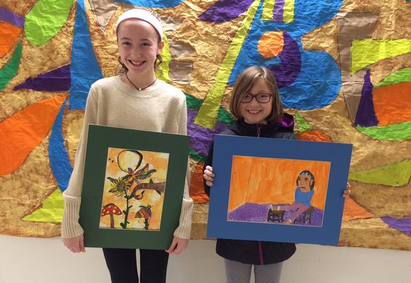 Six Elementary Students Receive Statewide Recognition for Youth Art Month