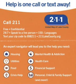 Dial 211 for help