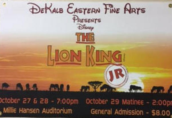 DeKalb Eastern Fine Arts Presents Disney's The Lion King Jr.