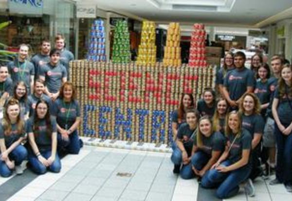Eastside Canstruction Entry: Science Central!