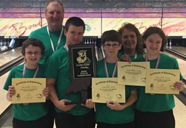 Junior High Bowling Team State Champs!