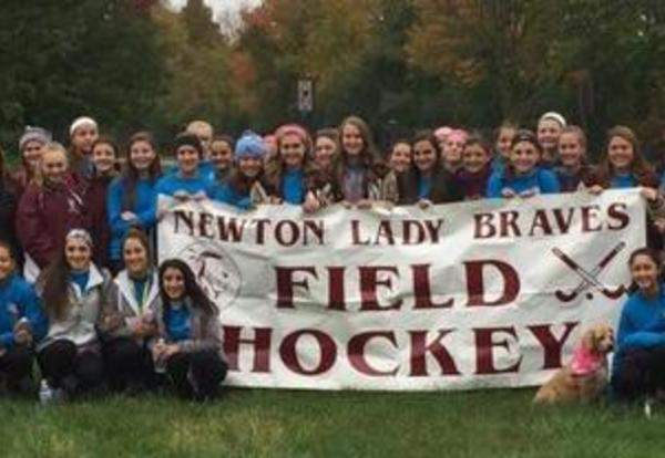 NHS Lady Braves Field Hockey raise $1,350.00 for Free Digital Mammograms
