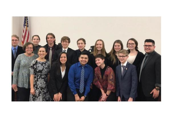NHS Mock Trial Team undefeated - progresses onto Regional Competition