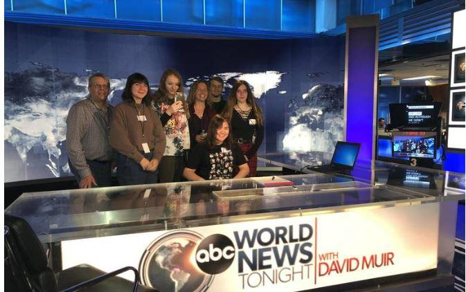 Video Production and Photography toured Walt Disney Television-ABC TV New York Broadcasting Studio.