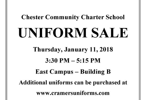 Uniform Sale - January 11th