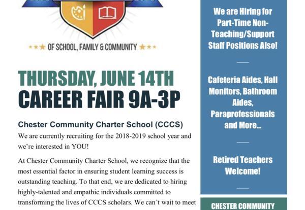 CCCS Career Fair: June 14