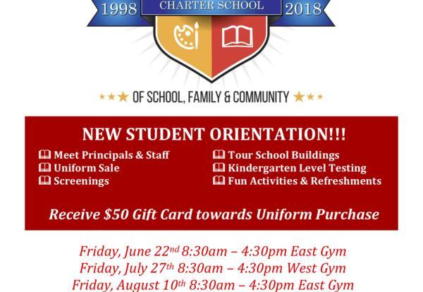 New Student Orientation Details