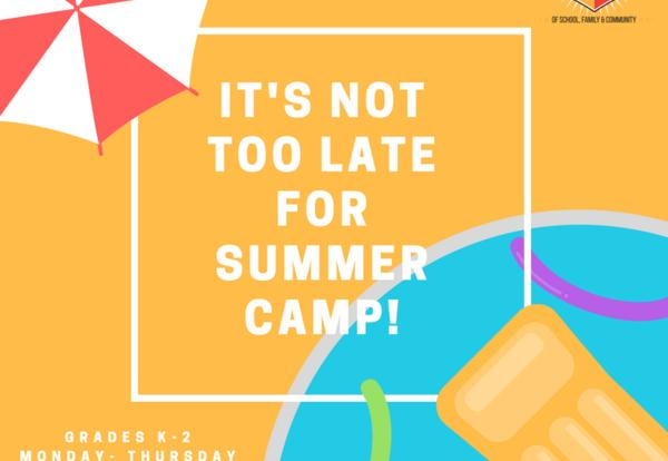 Not Too Late For CCCS Summer Camp!