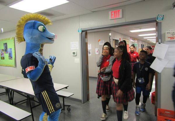 Philadelphia Union Visits CCCS to Reward Great Attendance