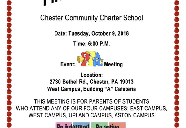 October PTA Meeting Details