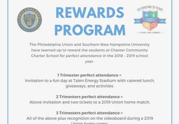 Philadelphia Union Will Bring CCCS Scholars With Perfect Attendance to Games!