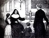 St. Julie with two children picture