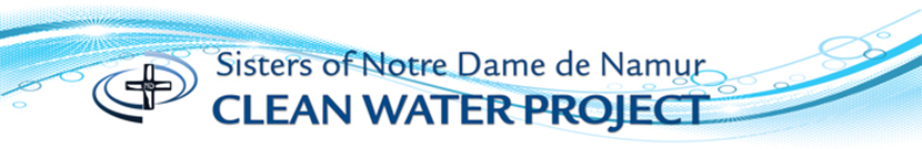 Sisters of Notre Dame de Namur Clean Water Project logo