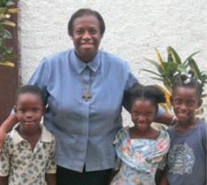 Sister Jeanette with children
