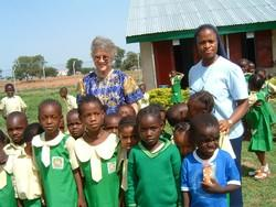Sister Carol Wetli with her students picture