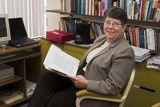 Sister Judith Merkle on a chair picture
