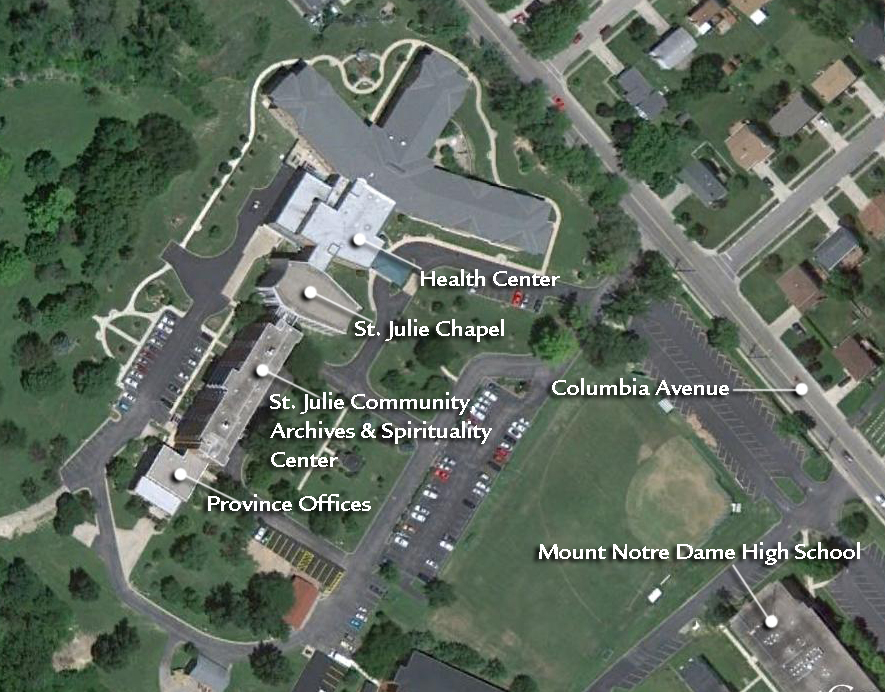 Aerial View of Mount Notre Dame (Google Earth)